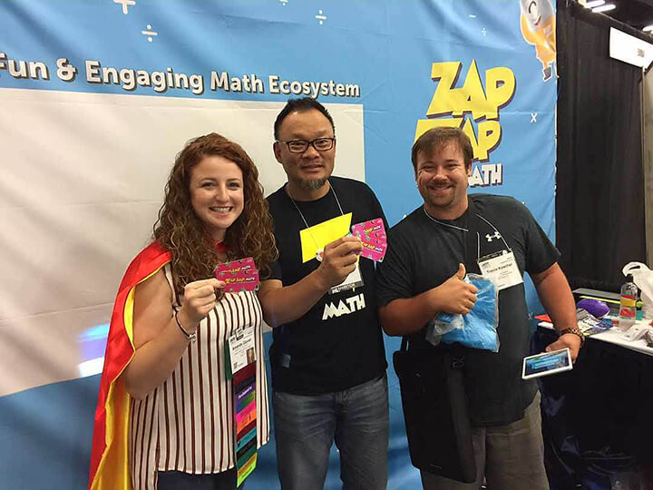 Winners who received one year of math games for free.