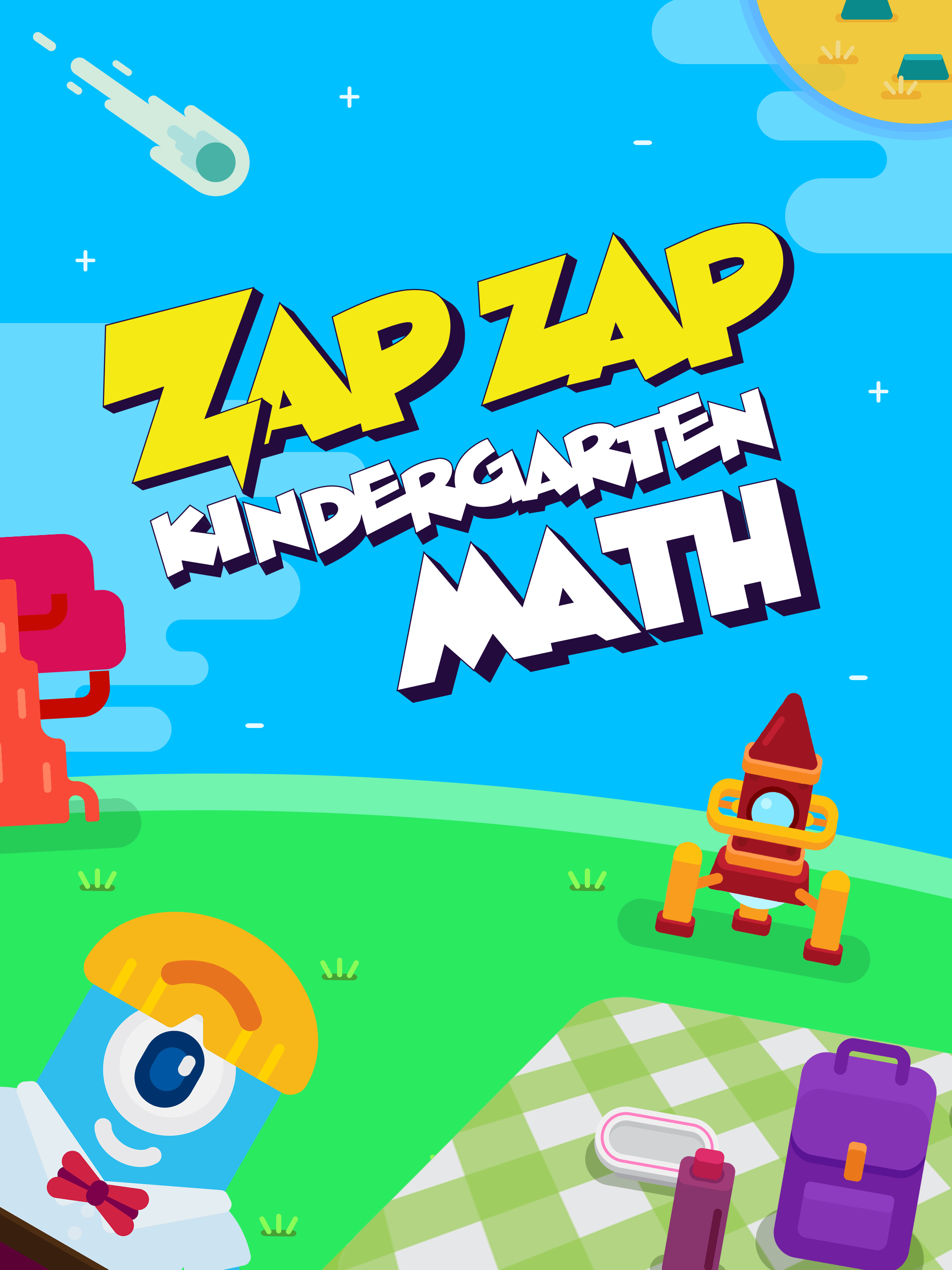Start Screen - Zap Zap Kindergarten Math