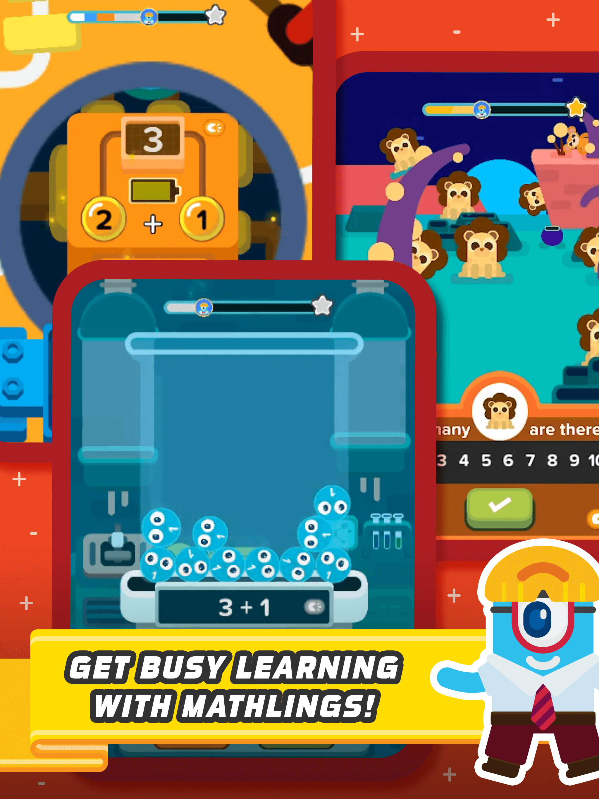 Learn math with interactive characters