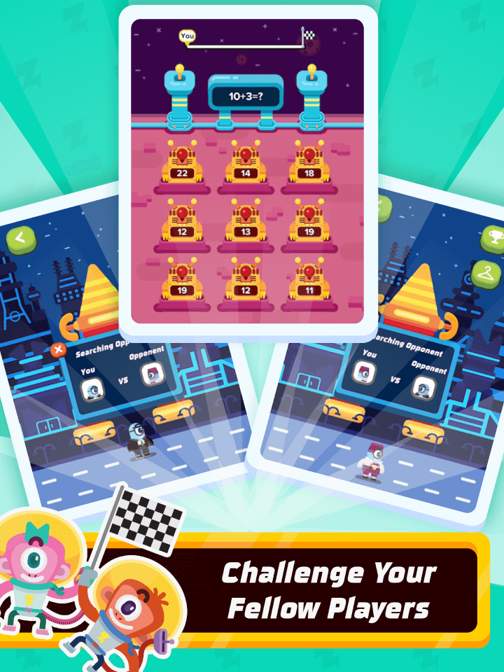 Multiplayer challenge in math skills