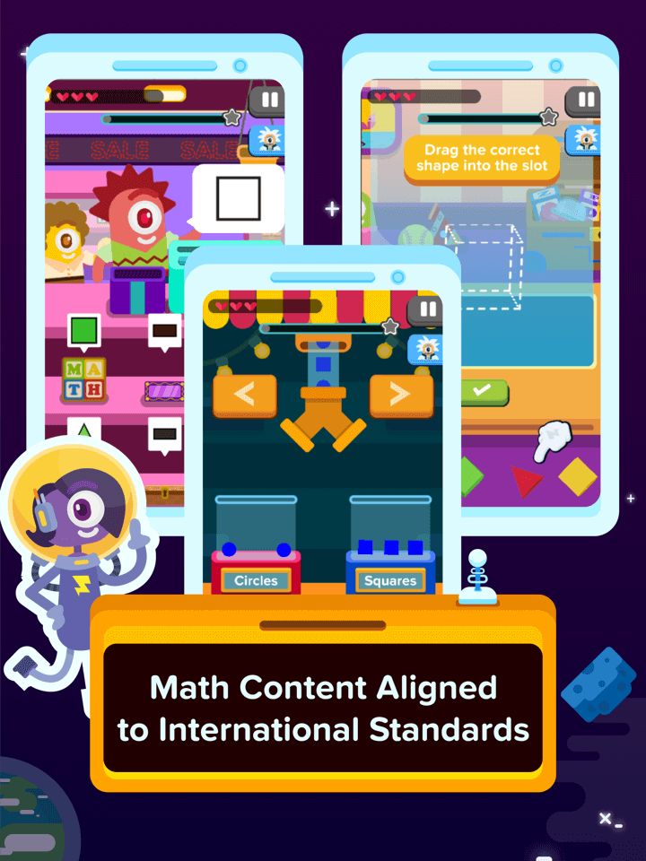 New games aligned to international math standards